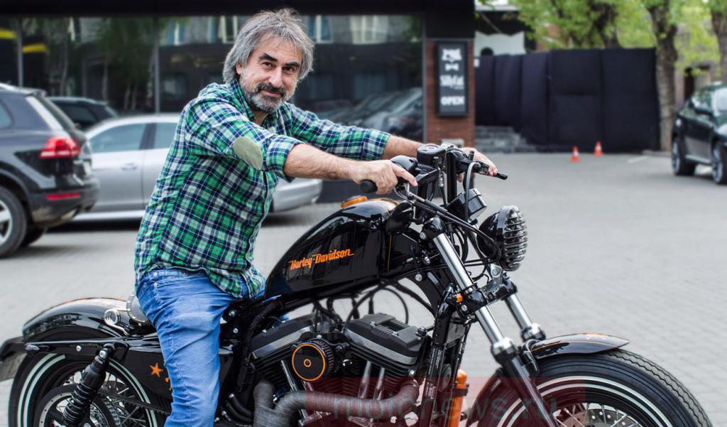 Alexander Tolmatsky on a bike