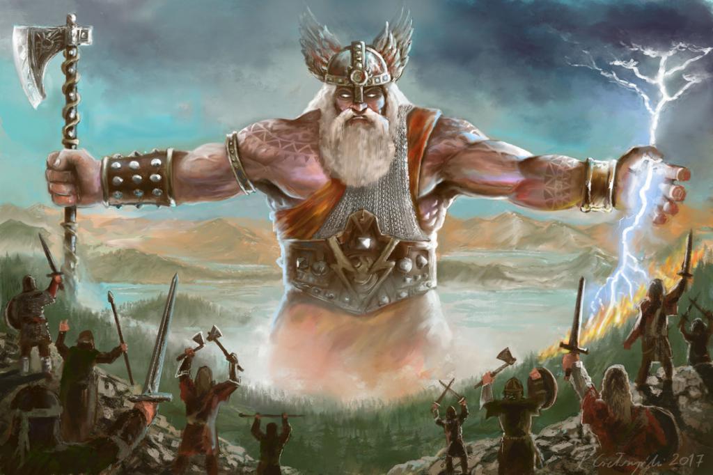 Картинки славянский бог перун