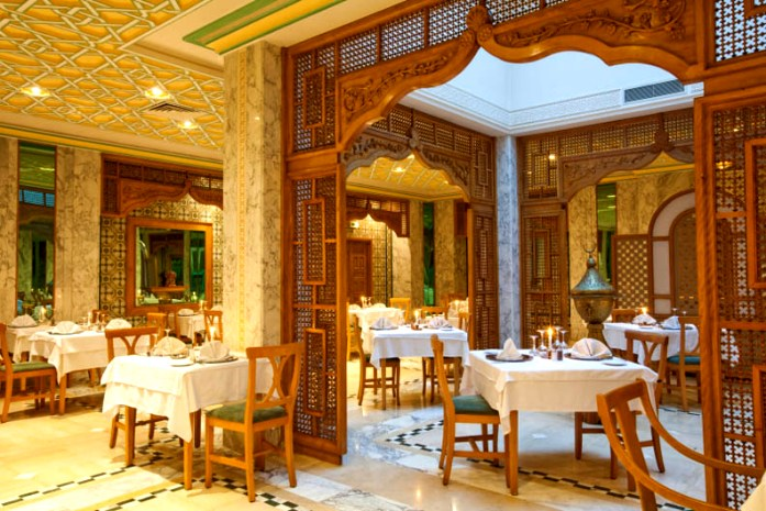 the interior of the hotel El Mouradi Mahdia