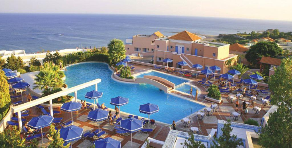 View of the hotel Mitsis Rodos Village 4 * from above