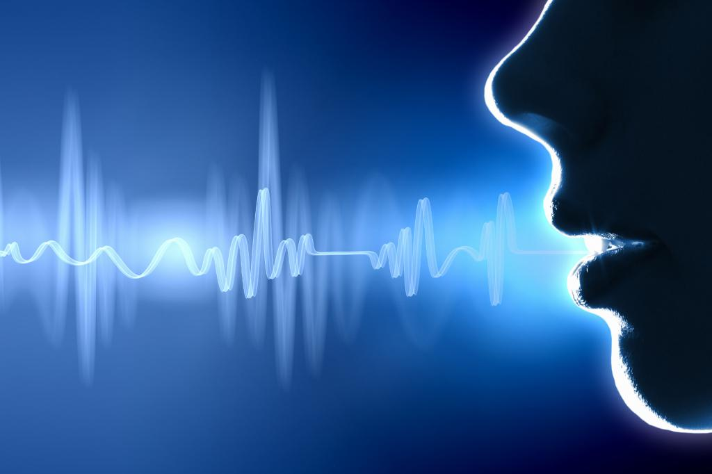 Sound wave comes from mouth