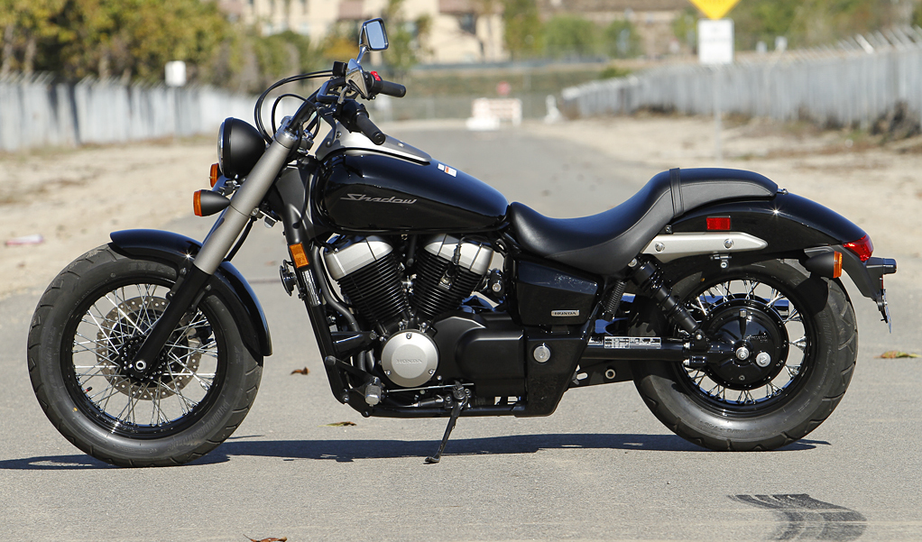 Black Honda Shadow 1100