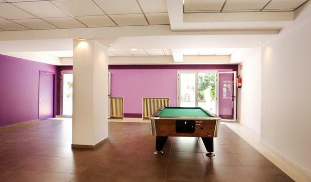 Billiards in the hotel.