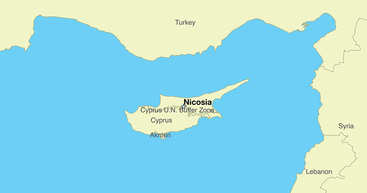 Cyprus on the map