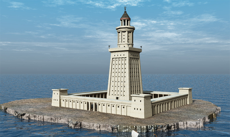 Three-dimensional layout of the Lighthouse of Alexandria