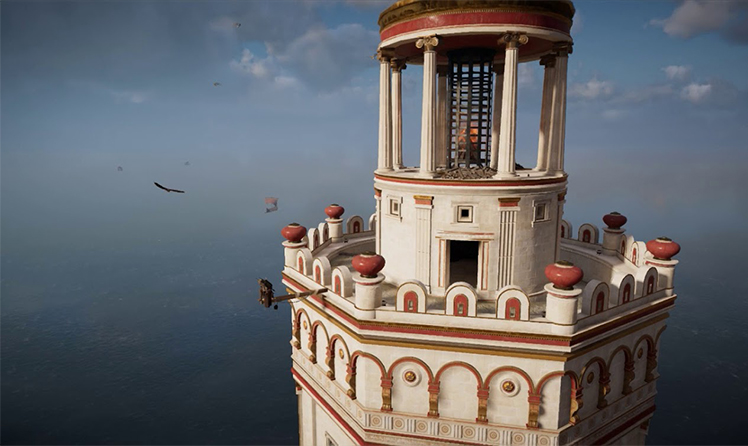 Virtual reconstruction of the third level of the lighthouse