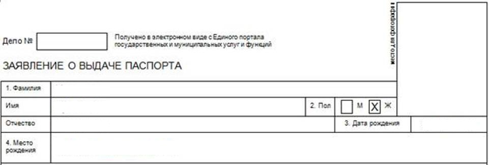 Application for international passport - the beginning of the questionnaire