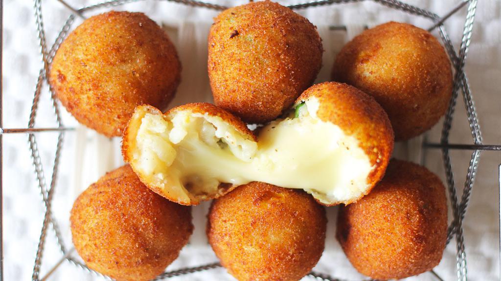 cheese and potato balls