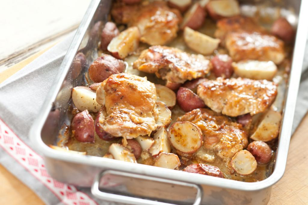 potatoes with chicken