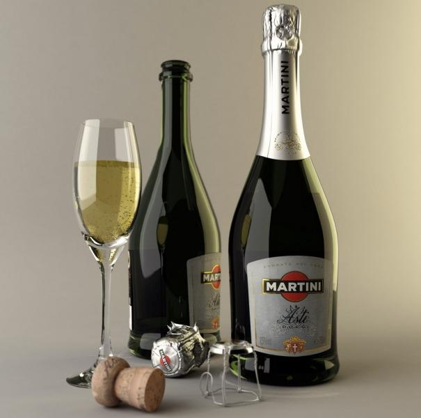 martini asti bottle of champagne