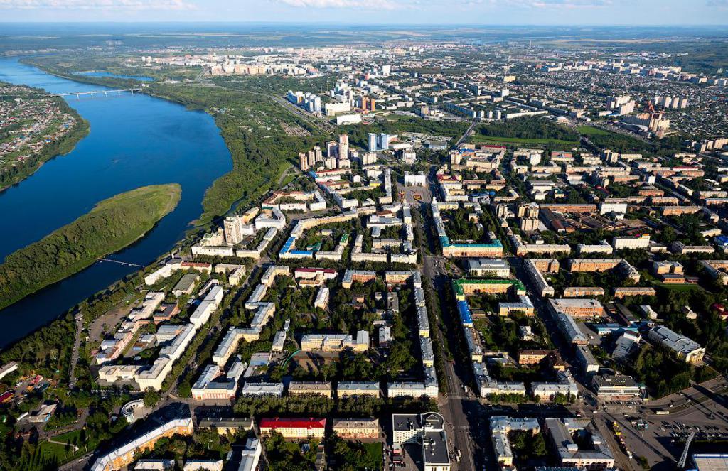 Kemerovo bird's-eye view