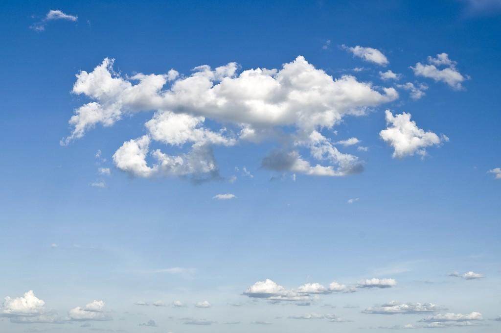 Clouds of water vapor