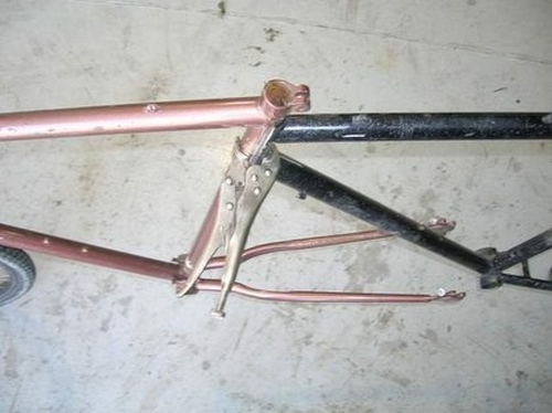 how to make a tandem of two bikes