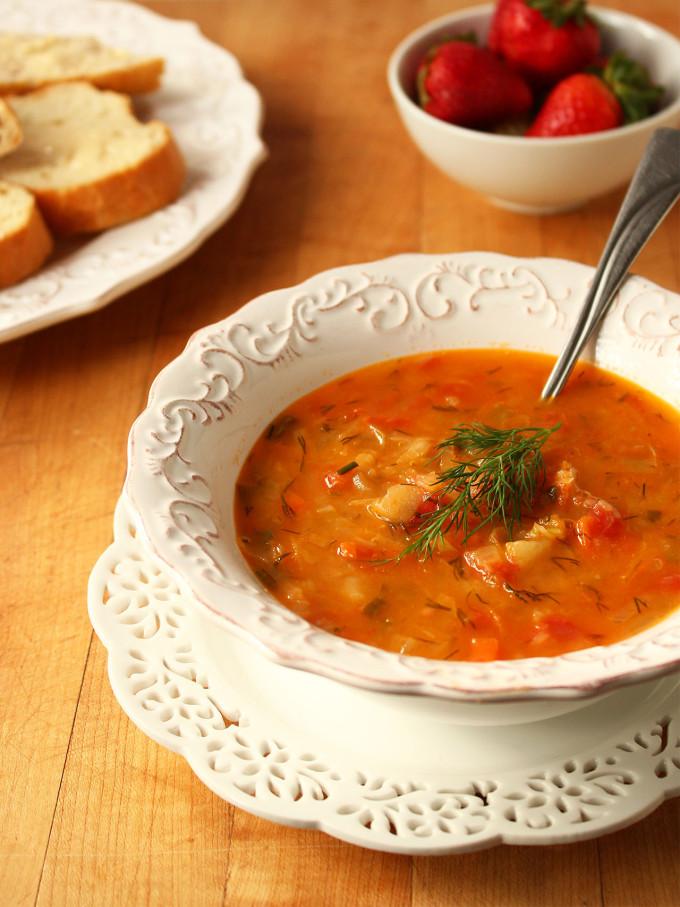 borscht vegetarian recipe with photos