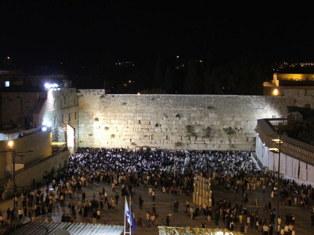 Wailing Wall in the evening