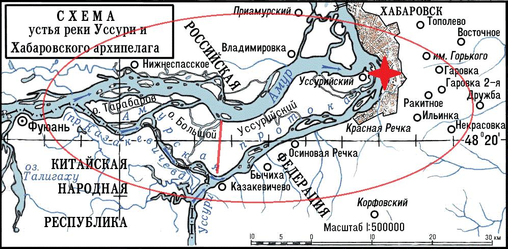 Damansky Island on the map