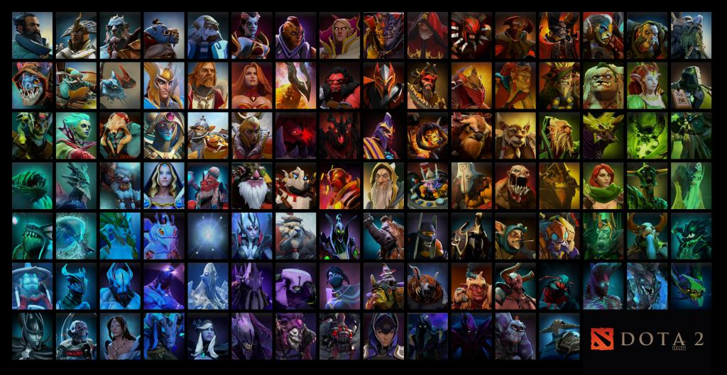 Heroes from the game Dota 2