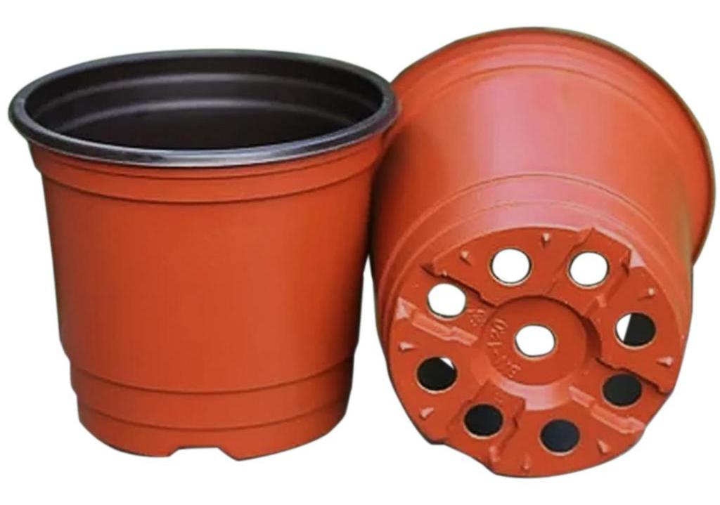 Flower pot with holes
