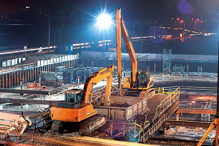 Construction site lighting