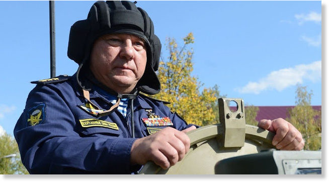 General Shamanov on BTR