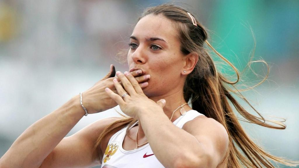 Елена Исинбаева тренировка