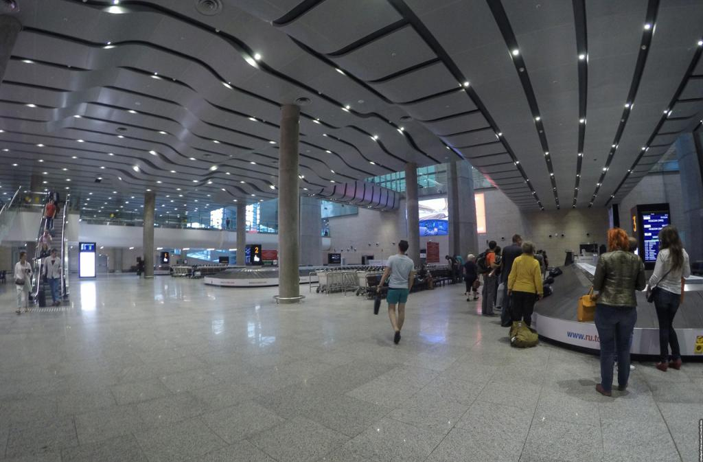 Arrival at Pulkovo Airport
