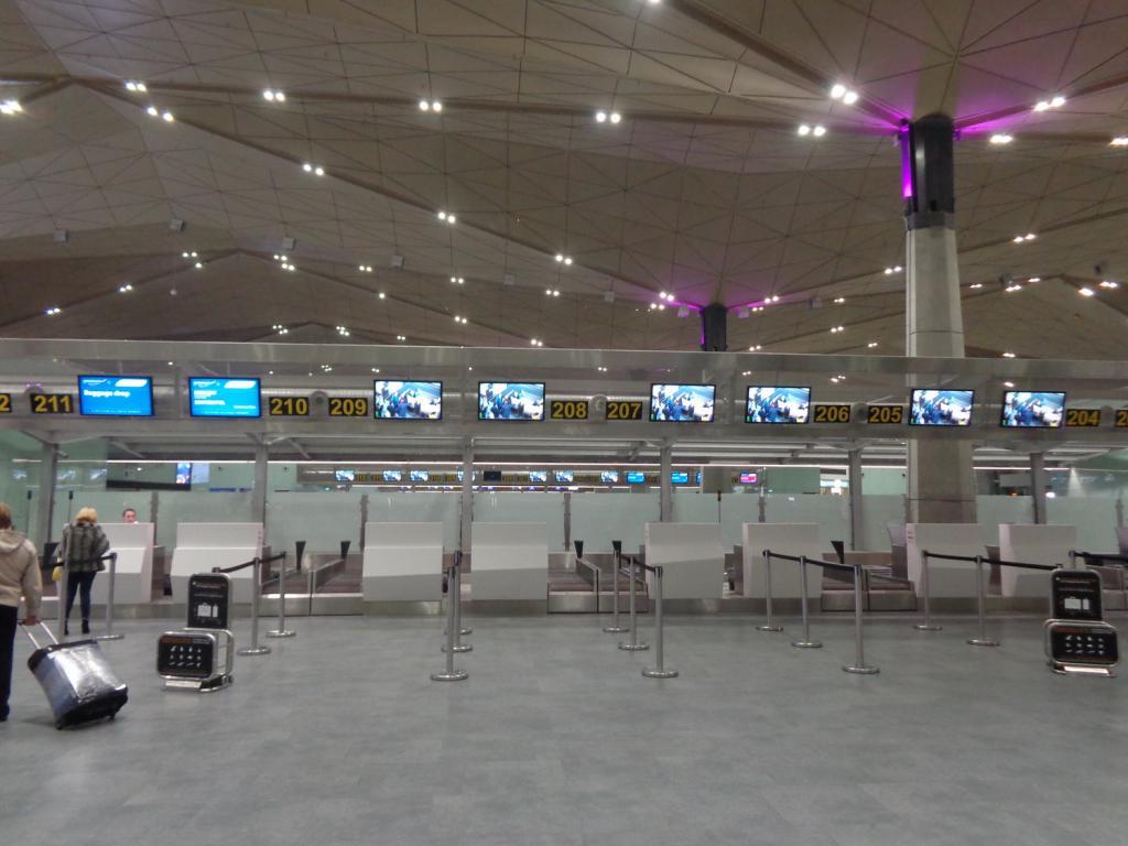 Scoreboard at Pulkovo Airport