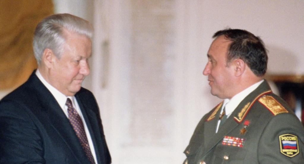 Grachev and Yeltsin