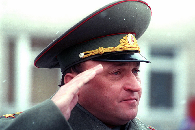 Pavel Sergeevich during a military parade