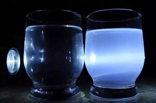 True and colloidal solution. Tyndall effect.