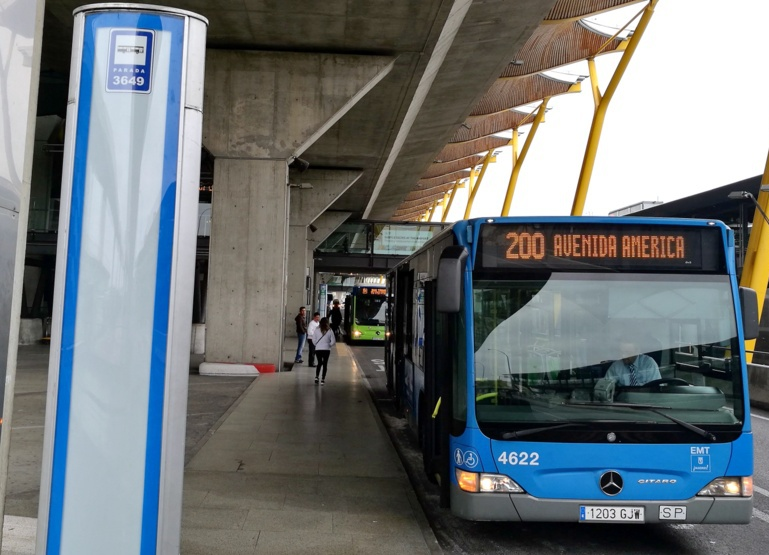 Bus from the city to the airport