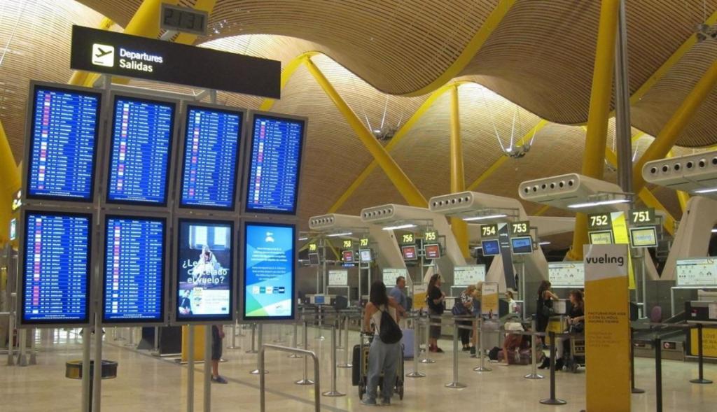 Barajas Airport in Madrid