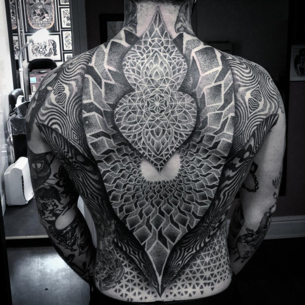 Dokatk tattoo on the whole back
