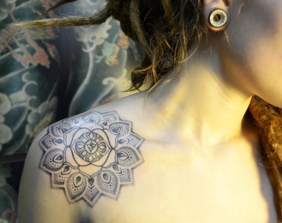 Dot tattoo for girls