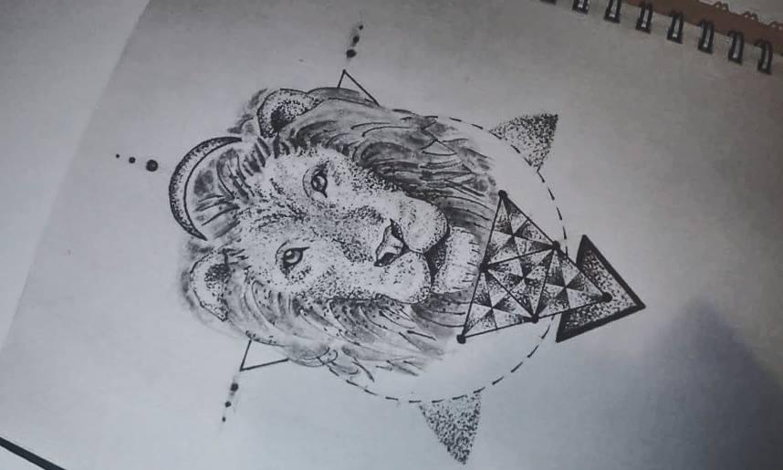 Sketch of tattoo doodok