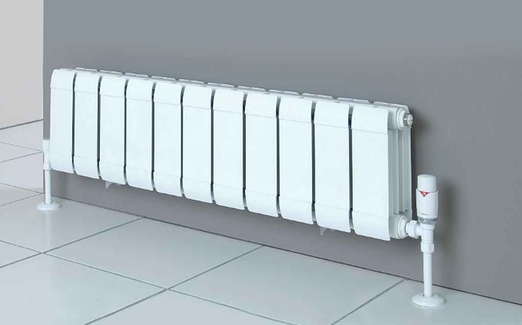 Multi-section aluminum radiator