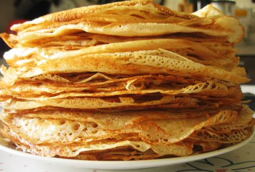 Recipe for pancakes with holes.