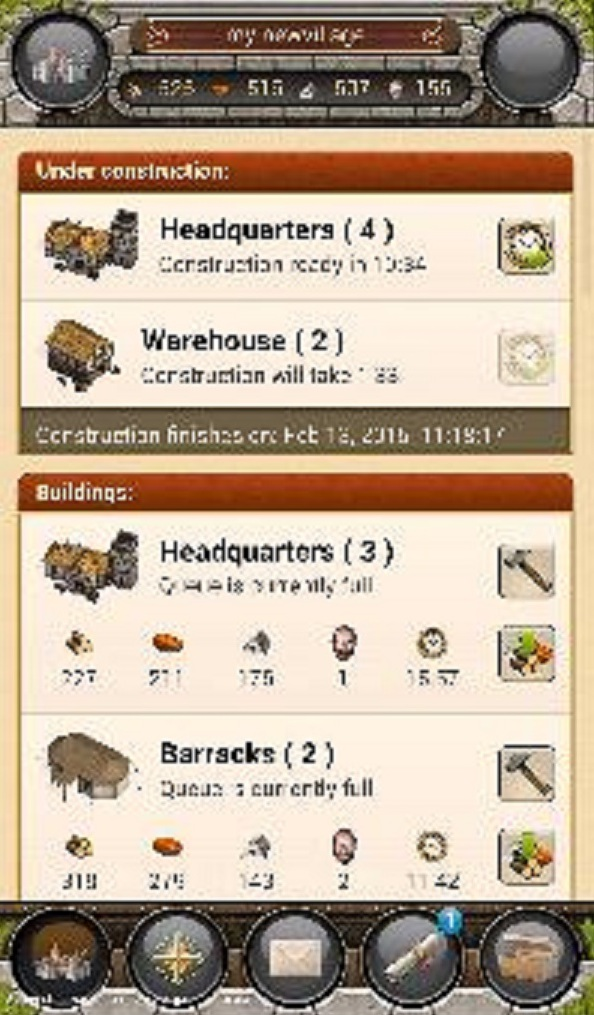 buildings in the game