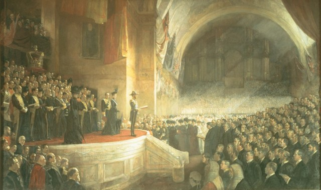 The opening of the first Parliament of the Union of Australia in 1901.