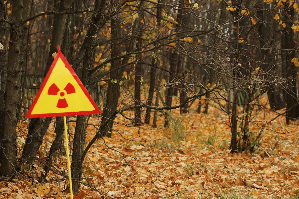 Sign of radiation in Chernobyl