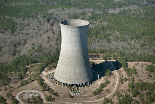 Cooling tower tower construction