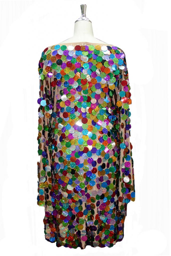 dress decorated with large sequins