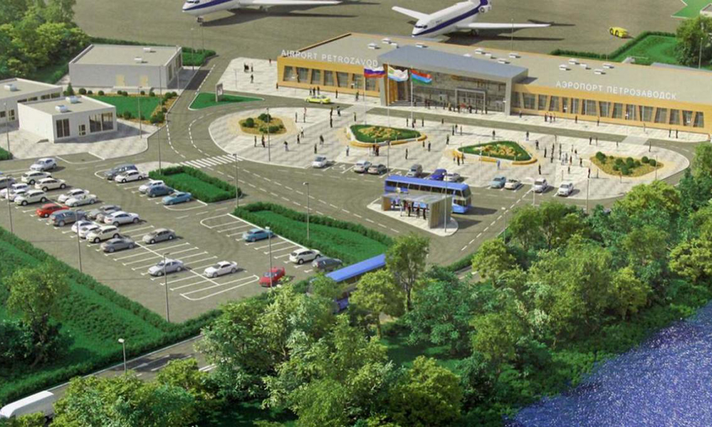 View of Petrozavodsk (Besovets) Airport in the future