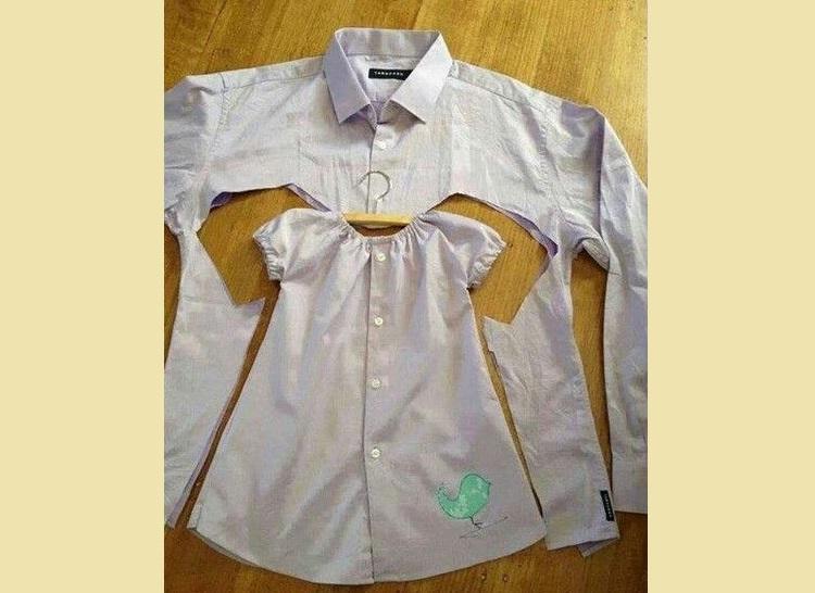 Детское платьице из рубашки