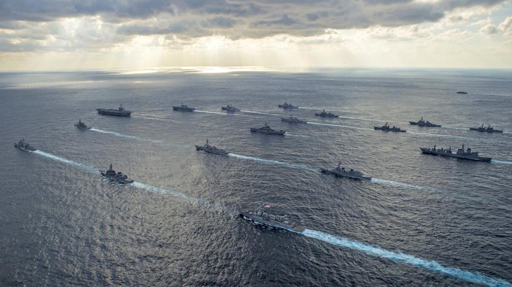 navy in the roads