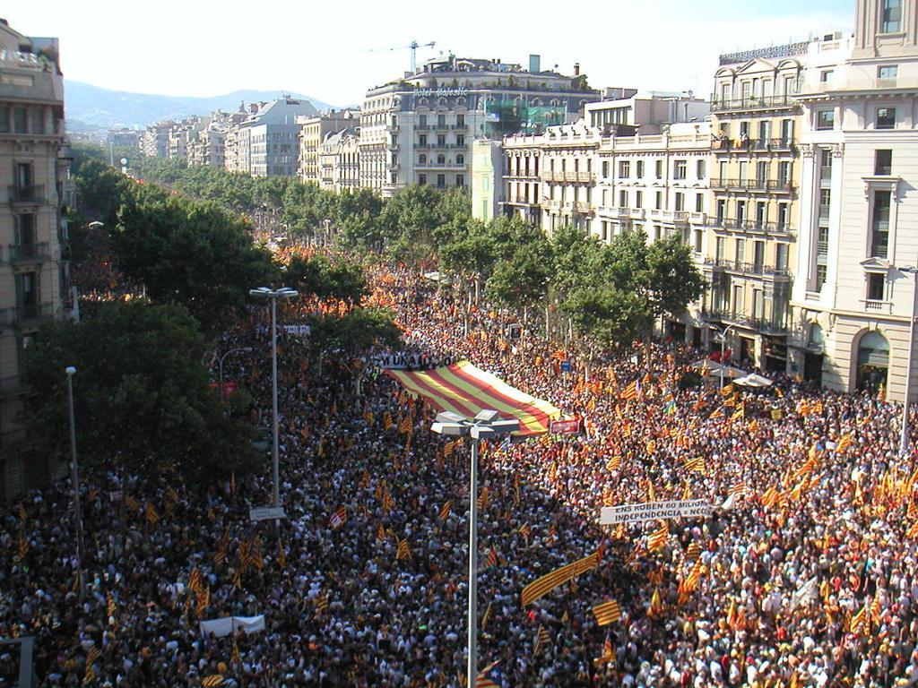 Выступление за автономию Каталонии
