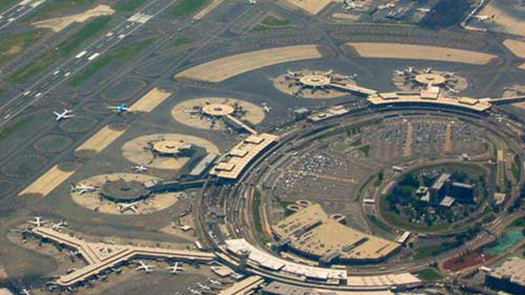 Bt on the airport from above