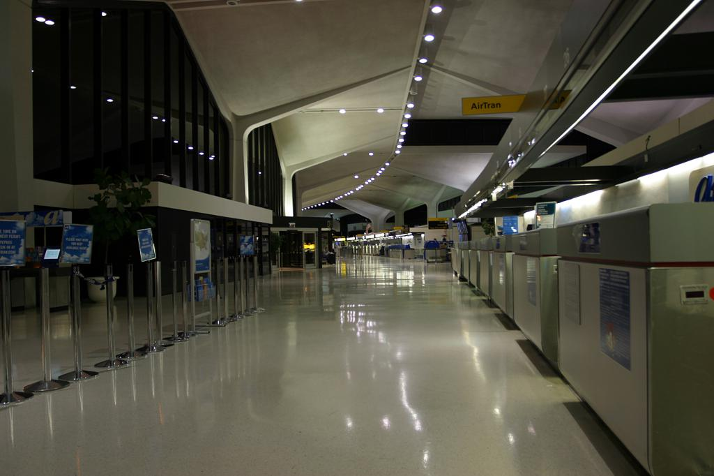 Check-in counters