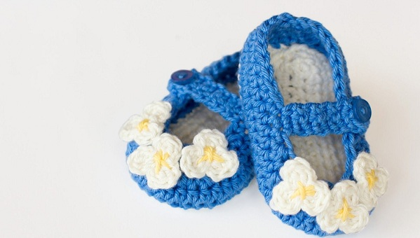 Вязаные пинетки туфельки крючком