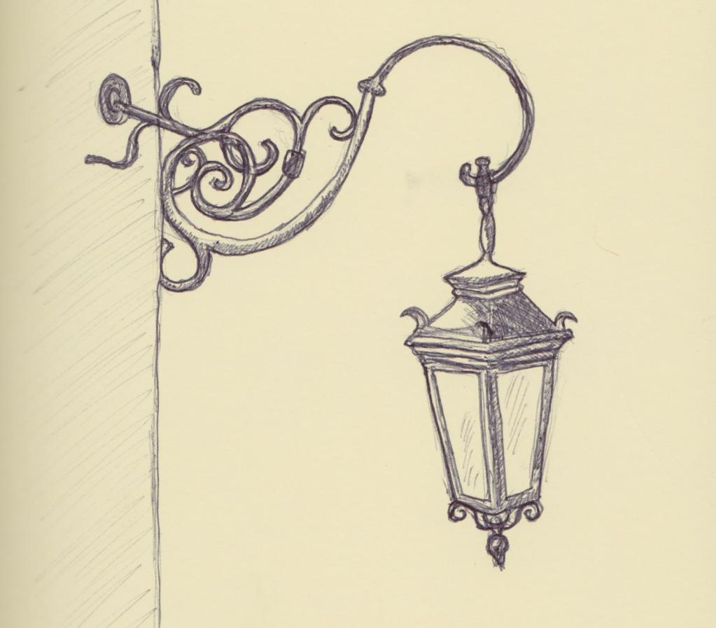 Грустными, фонари картинки для срисовки